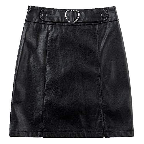 N\P Falda de cuero de las mujeres falda corta invierno falda otoño invierno falda invierno falda