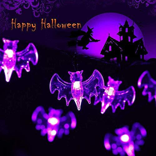 Halloween LED Lichterkette,Koqit Halloween Deko,Schläger Licht,Lichterkette Batterie Betrieben 3 Meter 20 LED Beleuchtung für Allerheiligen, Halloween Dekoration Party,Garten,Außen & Innen,Festen