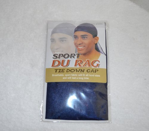Bee Sales Company Navy Blue du Rag Tie Down Cap - Wave Builder DuRag Hat by