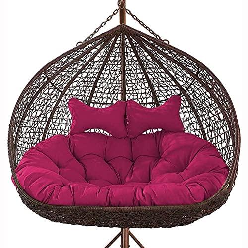 Pteng Outdoor Eierstuhl Überfüllte Hängesessel Kissen, Hängende Eier Stuhl Kissen Für Patio Garten, verdicken Double Papasan abnehmbare Eier Nest geformte Kissen