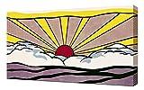 Roy Lichtenstein Sunrise - Pop Art Leinwandbild - Kunstdrucke - Gemälde Wandbilder