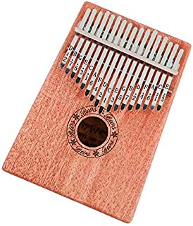 Exquisite 17 Keys kids Toys Kalimba Thumb Piano Wood African solid Mahogany Acacia Thumb Finger Piano Musical Instrument W...