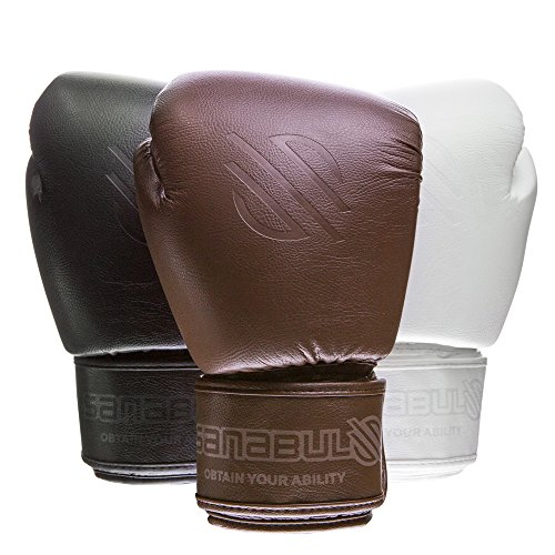 Sanabul Battle Forged Thai Style Kickboxing Professional Gloves (Brown, 14 oz)