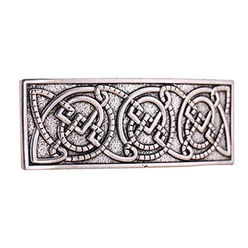 Vintage Style Große Keltische Haarspange Haarclips Metall Haar Dekor Frauen Mädchen Französische Haarspangen - Silber