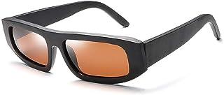 SGJFZD Cycling Driving Men's Box Sunglasses UV400 UV Protective Sunglasses Fashionable Sunglasses (Color : Brown)