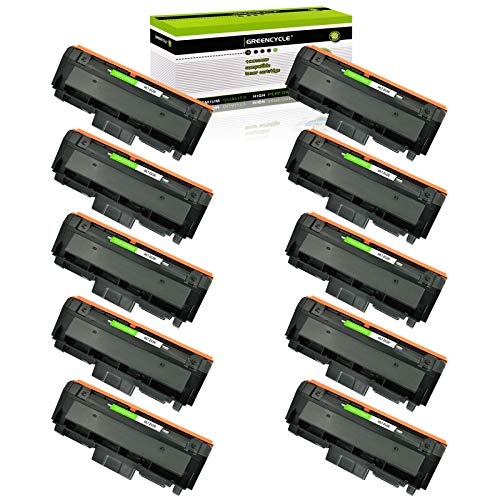GREENCYCLE Compatible Toner Cartridge Replacement for Samsung 116L MLT-D116L MLTD116L D116L Use for Xpress SL-M2825DW SL-2835DW SL-2885FW SL-2875FD SL-2875FW SL-M2625D Printer (Black, 10-Pack)