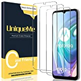 [3 Pack] UniqueMe Compatible con Motorola Moto G10 Protector de Pantalla, Vidrio Templado [9H Dureza] HD Film Cristal Templado