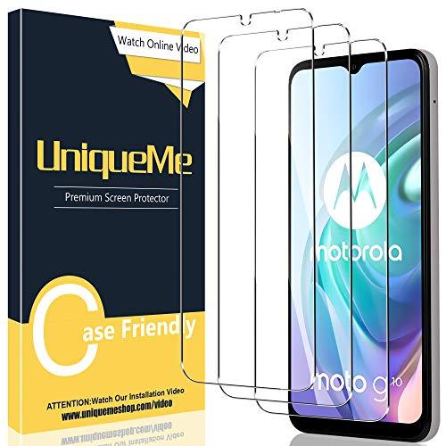 UniqueMe [3 Stück] Schutzfolie Kompatibel mit Motorola Moto G10 Panzerglas, [Einfache Installation] Gehärtetem Motorola Moto G10 Bildschirmschutzfolie.