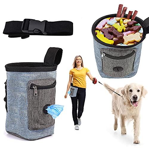 Sunshine smile Bolsa de Comida para Perros, Bolsa para Aperitivos para Perros, Bolsa de Comida extraíble, Resistente al Agua, Bolsa de Entrenamiento para Perros