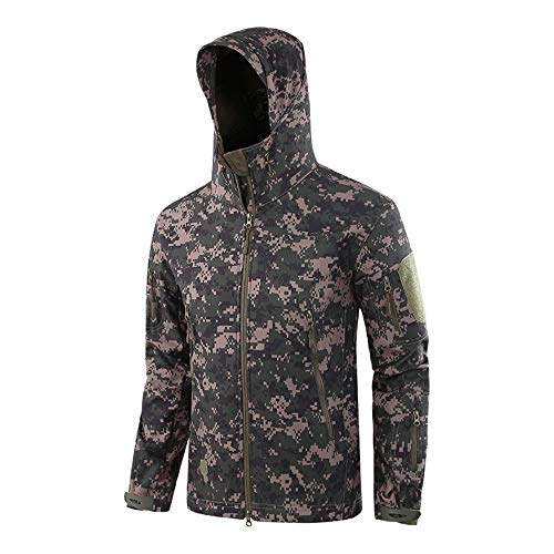 Memoryee wasserdichte Herren Softshelljacken für Herren Warme militärische Taktische Hoodies Camouflage Coat/Russian Military digital/2XL