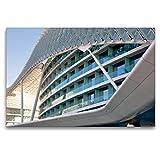 CALVENDO Premium Textil-Leinwand 120 x 80 cm Quer-Format Modernes Gebäude an der Formel 1 - Rennstrecke, Leinwanddruck von Pia Thauwald