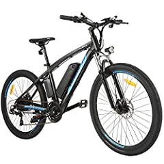 500W POWERFULL MOTOR: Equipped with 500W high speed brushless motor, increases stronger hill-climbing power, provids more than enough to power your daily commute, a cruise on the mountain, or a meander along your favorite trail. With speeds up to 22 ...