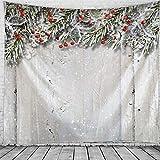 KHKJ Tapiz de Navidad para Colgar en la Pared, Navidad, Nieve, decoración del hogar, Reloj de Navidad, tapices Impresos, tapices de Gran tamaño A3 200x150cm