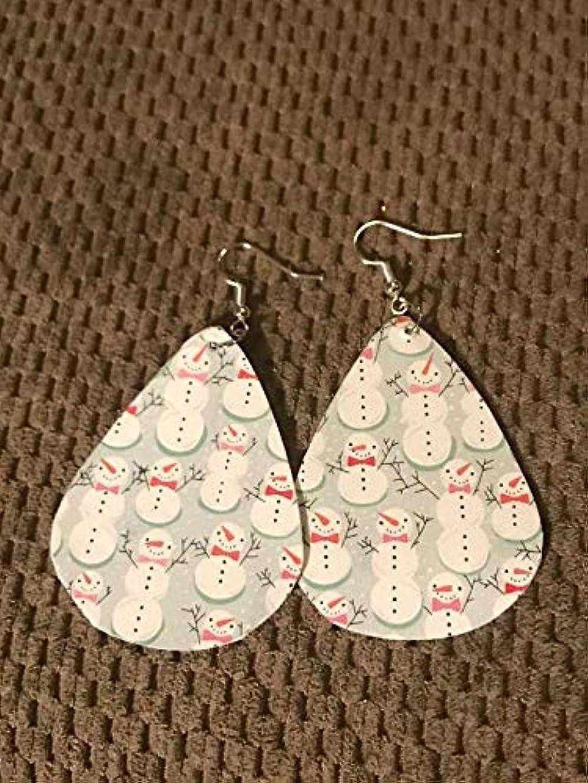Snowman Earrings/Paper Earrings/Lightweight Earrings/Winter Earrings