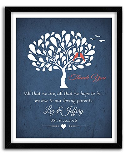 Groom Parents Gift Mother of Groom Gift Wedding Gift for Mother In-Law Wedding Art Print Mother of Bride 069 Parents Thank you gift