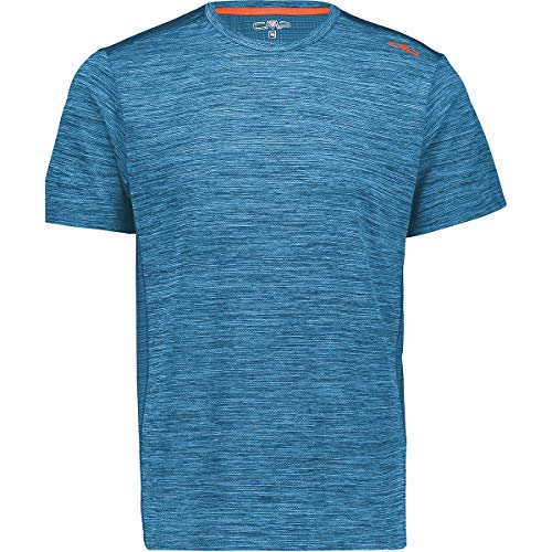 CMP Stretch with Antibacterial Treatment T-Shirt pour Homme L Light Blue