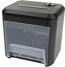$118 » wangzi Mini Desktop Paper Shredder Portable Paper Shredder for Home Office, 4-Level confidentiality, 4x30mm Shredded Pape...