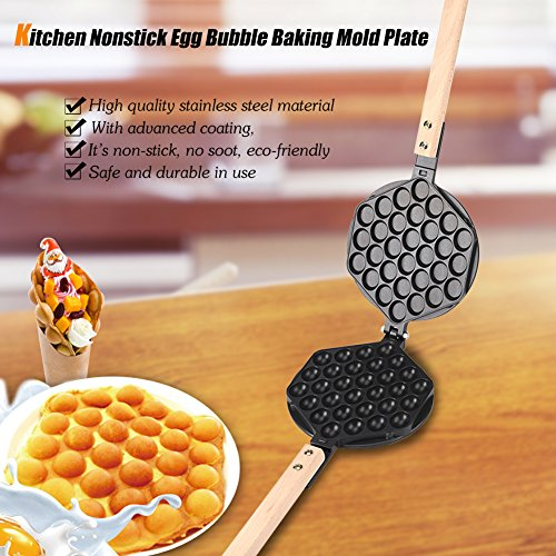 Why Should You Buy hongxinq hongxinq Nonstick Egg Bubble Baking Mold Plate Waffle Maker Pan Tool for...