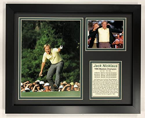 Legends Never Die PGA Jack Nicklaus 1986 Masters Champion Framed Double Matted Photos 12 x 15 product image
