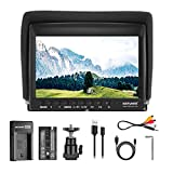 Neewer F100 7 Inch Camera Field Monitor HD Video Assist Slim IPS 1280x800 4K HDMI Input 1080p with 2600mAh Li-ion Battery/USB Charger for DSLR Cameras, Handheld Stabilizer, Film Video Making Rig