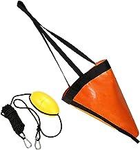 Drift Socks Vissen Boei 24 Inch Zee Boot Stabilisatieparachutes Voor Lake River Ocean Verankering Trolling Bag Orange 2 Stuks
