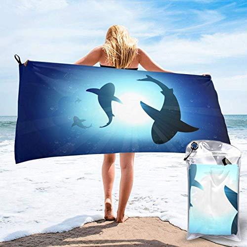Bathroom Towels Shower Towels Toallas de playa ligeras, tiburón submarino Beach Towels 140 X 70