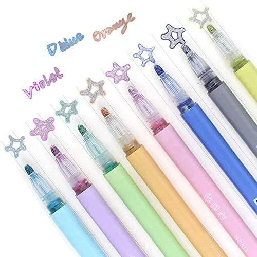 2020 Nuevos Bolígrafos Mágicos - El Empleo Creativo Para Niños, 8 Colores, Moda,Colores Brillantes,Marcadores Metálicos Contorno Propio, Bolígrafos De Contorno De Doble Línea, Para Colorear Dibujo