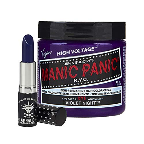 Manic Panic Violet Night Lethal Lipstick Bundle with Violet Night Hair Dye