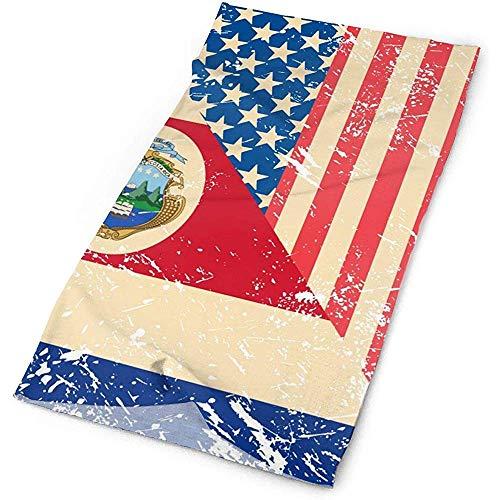 Not Applicable Magic Headband,Sombreros Suaves De Bandera Retro De EE. UU. Y Costa Rica para Escalada De Montaña