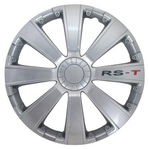 Petex RB534114 Radzierblende RS-T Größe 14 Zoll 2-fach lackiert Material: ABS in Box, silber - 4-er Set