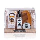 Accentra - Set de regalo Hipster Style para hombres, champú para cabello y barba, aceite para barba, cera para barba, peine de madera atractivo en una bolsa de PVC, paquete de 1 unidad (1 x 275 g)