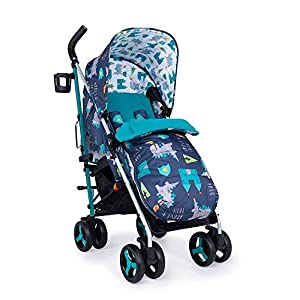 Cosatto Supa 3 Pushchair – Lightweight Stroller from Birth to 25kg - Compact Fold, Shopping Basket, Footmuff (Dragon Kingdom)   7