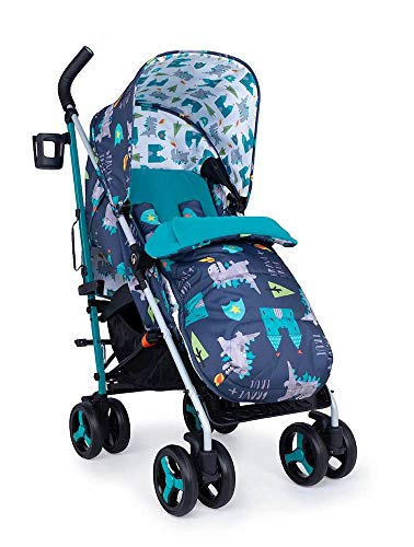 Cosatto Supa 3 Pushchair – Lightweight Stroller from Birth to 25kg - Compact Fold, Shopping Basket, Footmuff (Dragon Kingdom) Cosatto Suitable from birth – supa 3 is compact from-birth stroller. suitable up to 25kg, the sturdy but lightweight 9kg chassis lets your toddler use it for longer Easy to use – this lightweight stroller has a handy compact umbrella fold and carry handle so you can hop on and off transport with ease, whilst also being great for fitting into your car All in the detail – discover supa 3's detailing. from exquisite fabrics and finishes to a viewing window in the hood, fleece lined footmuff and reversible summer liner, this is understated luxury 1