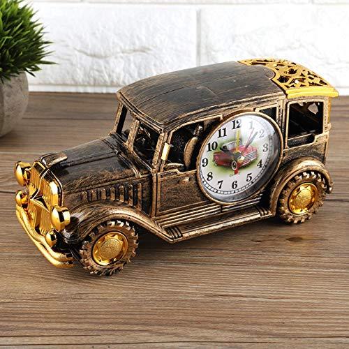 fegayu Digitaler Wecker Schreibtisch Wecker, 8,7 * 4,1 * 2,8In Wecker, klassischer Oldtimer-Wecker für Bürofamilien(Bronze)
