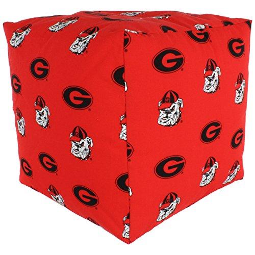 College Covers Georgia Bulldogs Cube Cushion Pouf Chair Bean Bag Ottoman