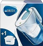 BRITA Style azul - Jarra de Agua Filtrada con 1 cartucho MAXTRA+, Filtro de agua BRITA que reduce la cal y el cloro, Agua filtrada para un sabor óptimo, 2.4L