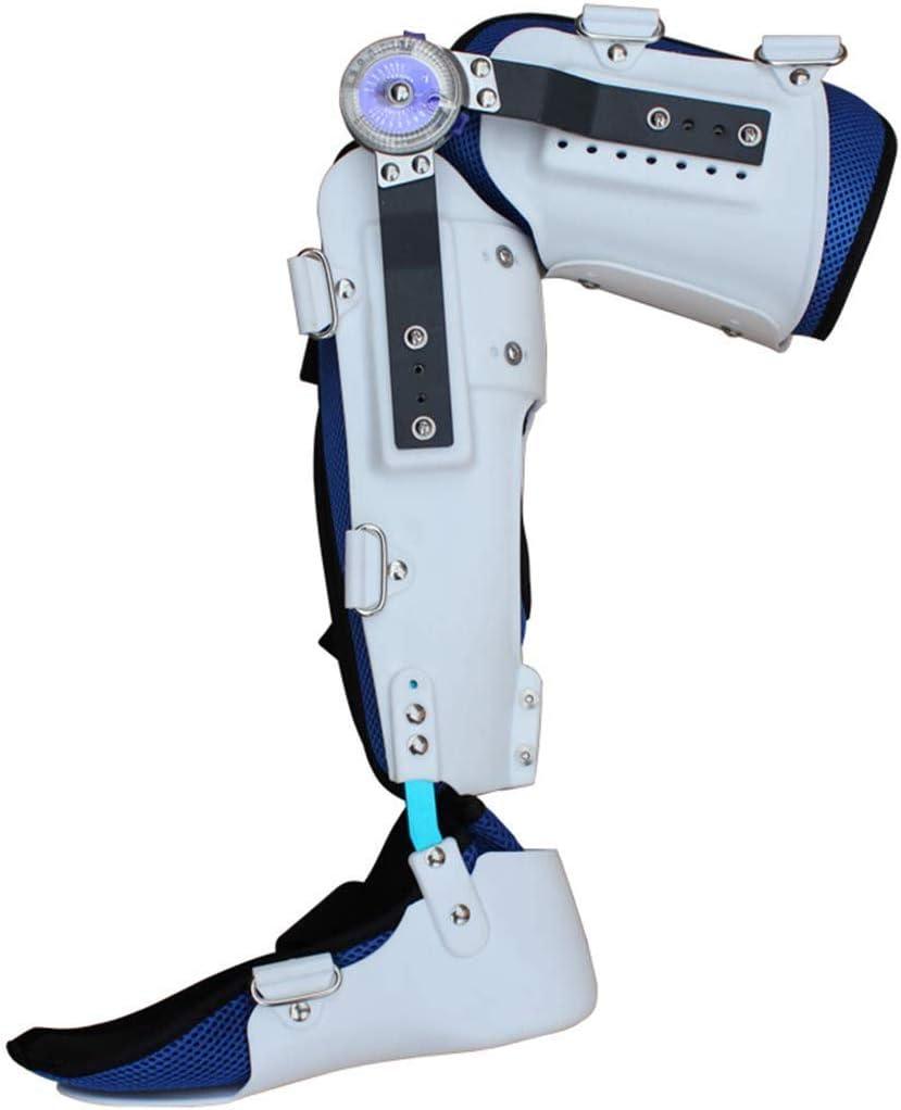 HLR Rodilleras médicas ROM con bisagras Ajustable del Tobillo hasta la Rodilla Inmovilizador aparatos ortopédicos Pata estabilizadora de LCA, ligamento, Lesiones Deportivas