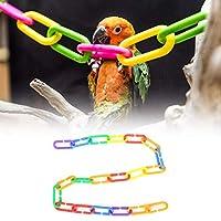 100Pcs耐久性のあるオウムのおもちゃ、明るい色の無毒のプラスチックの鳥のオウムのためのバックルのおもちゃ