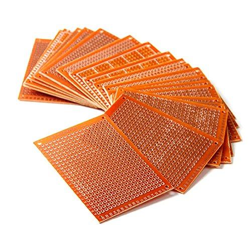HiLetgo 20pcs 5x7cm Bakelite DIY Prototype Board PCB 5 * 7cm Universal Breadboard Test Prototype Boards for Arduino DIY Electronics Experiments