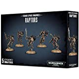 Games Workshop 99120102087 - Raptors Chaos Space Marines - Warhammer 40000 - Contiene 5 Figuras Citadel - Miniaturas Warhammer 40k