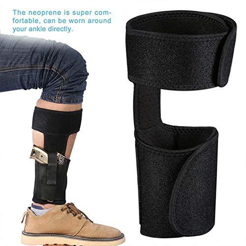Étui de cheville universel caché poche élastique de la jambe sac de jambe respirant Couvre-pieds multifonctionnel