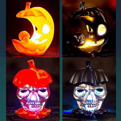 4 Velas LED Sin Fuego, Treer Luz De La Vela Del LED Luces Sin llamas Para Halloween Decoración Del Hogar Calabaza Bruja Araña Ambiente de Terror