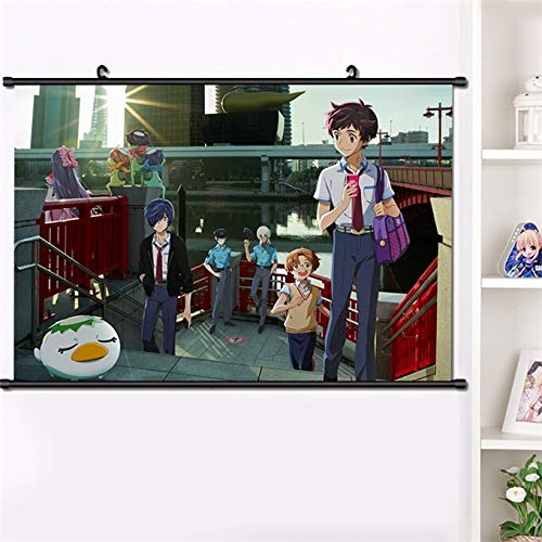 Henanyimeixiang 2019 Anime Sarazanmai Yasaka Kazuki Azuma Sara Keppi Mural De Desplazamiento De Pared Cartel Colgante De Pared Cartel Otaku DecoracióN De Arte para El Hogar 40 * 60 Cm_40x60 Cm