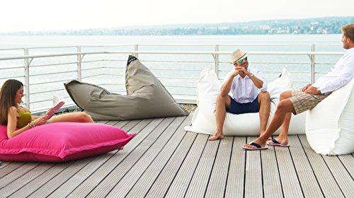 chillisy® Pouf intérieur extérieur géant de Luxe XXL Coussin 450L remplit en matière vièrge 160 x 120 cm Jaune