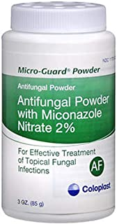 MICRO-GUARD Antifungal Powder (Pack of 2) Contains 2% Miconazole Nitrate. 3 oz Each - Treats Athlete's Foot, Ringworm, Joc...