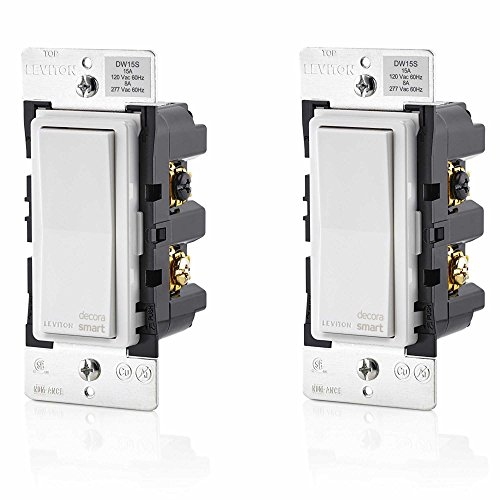 Leviton DW15S-1BZ Decora Smart Wi-Fi 15A LED/Incandescent Switch, No Hub Required (2 Pack)