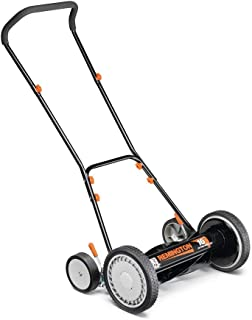 Remington 16 in. Manual Walk Behind Reel Lawn Mower with 9 Position Cutting Heights with Bonus Husky Steel Precision File Set with Storage Case (6-Piece)