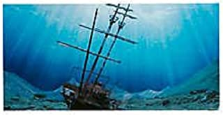 Aquatic PMTF40065 Creations Double Sided Aquarium Background Tropical/Ship