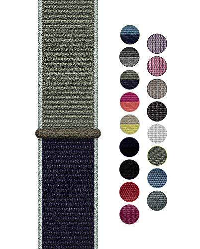 Naomo Compatibile con Watch Cinturino 42mm/44mm, Nylon Cinturini di Ricambio per Series 5/Series 4/Series 3/Series 2/Series 1 (42mm/44mm, Nylon Kaki)