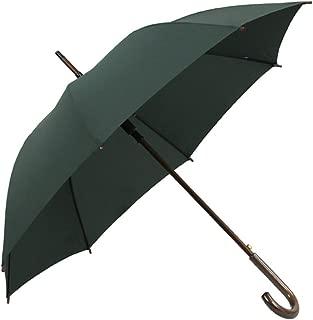 Solid Wood Handle Umbrella Color Long Handle Parasol Umbrella Men and Women Corporate Umbrella Automatic Huhero (Color : Green)